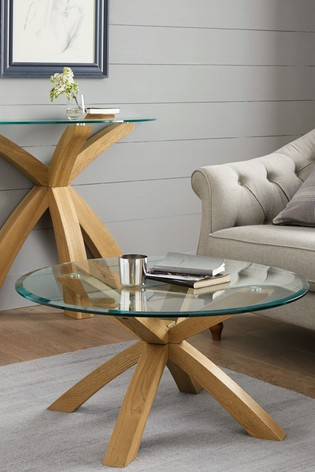 Buy Oak And Glass Coffee Table From Next Ireland