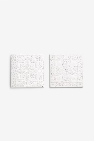Set of 2 Tiles Wall Art