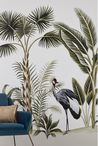 Eighty Two Crested Crane Wall Mural