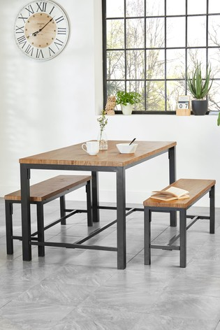 Ellison Dining Table And Bench Set