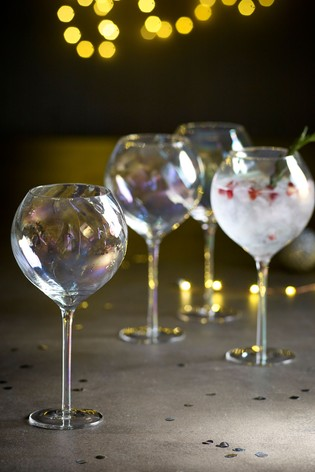 Paris Lustre Effect Set of 4 Gin Glasses