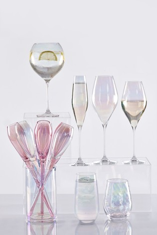 Paris Lustre Effect Set of 4 Tall Tumbler Glasses