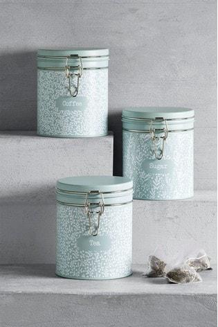 Set of 3 Hadley Floral Storage Tins