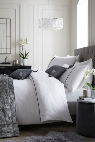 Laurence Llewelyn-Bowen Exclusive To Next Savoy Satin Stripe Duvet Cover and Pillowcase Set
