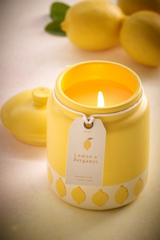Lemon & Bergamot Ceramic Candle