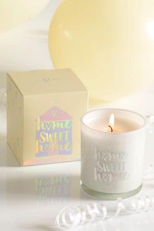 Sherbet Lemon Home Sweet Home Candle