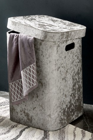 Velour Laundry Hamper
