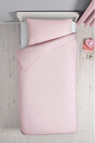 Antibacterial Plain Dye Duvet Cover And Pillowcase Set