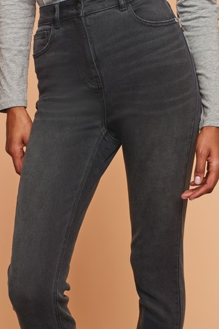 Washed Black High Rise Skinny Jeans