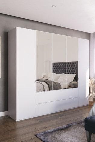 Monroe Five Door Combination Wardrobe With Mirror