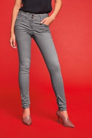 Grey Lift, Slim And Shape Skinny Jeans