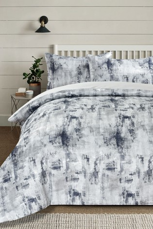 Metallic Textured Jacquard Duvet Cover and Pillowcase Set