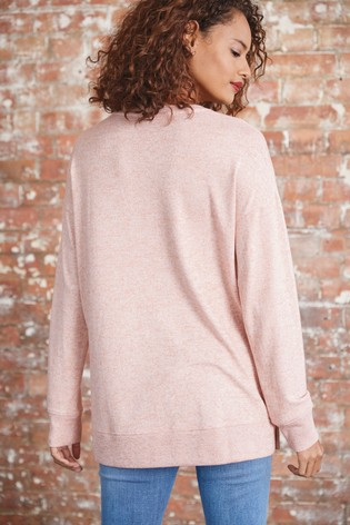 Blush Longline Cosy Top