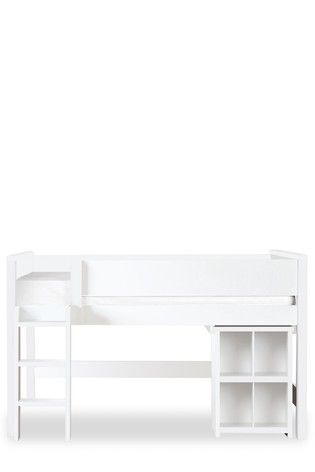 Compton Mid Sleeper Single Bed Frame with Desk