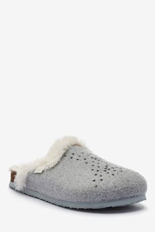 next grey mule slippers