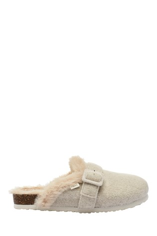 Buy Stone Buckle Mule Slippers from