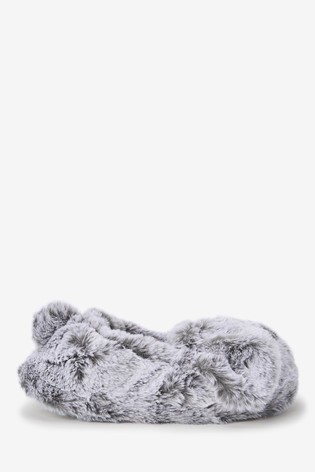 Grey Dog Slippers