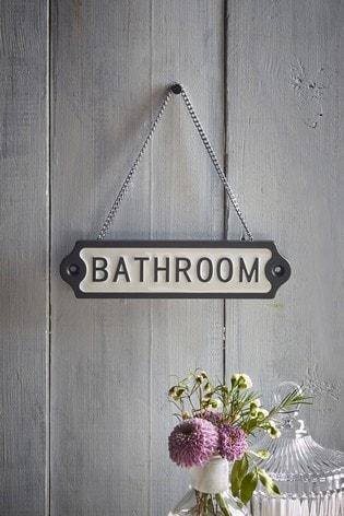 Bathroom Hanging Sign