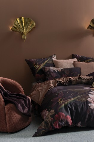 Neve Floral Duvet Cover and Pillowcase Set by Linen House