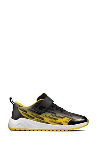 Buy Clarks Black/Yellow Aeon Pace KIds