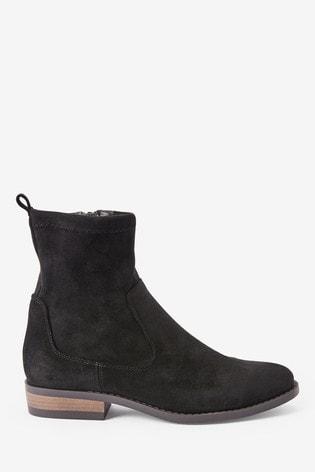Black Forever Comfort® Flat Sock Boots