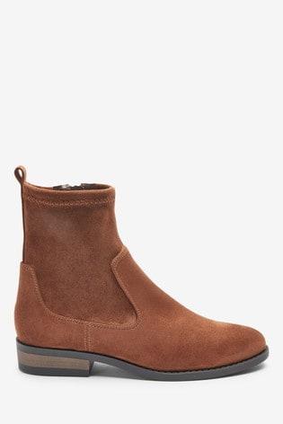 Tan Forever Comfort® Flat Sock Boots