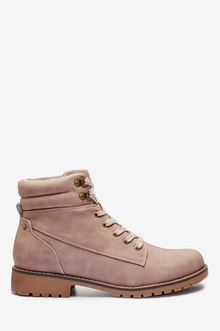 Pink Forever Comfort® Casual Lace-Up Boots