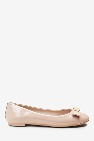 Nude Hardware Bow Ballerina Shoes