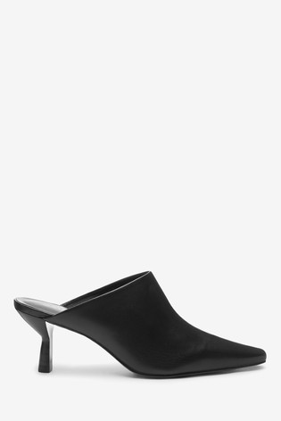 Buy Black Signature Leather Closed Toe