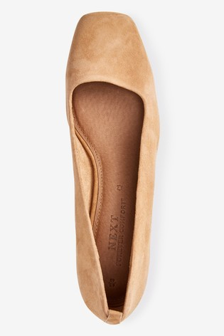 Leather Low Block Heels