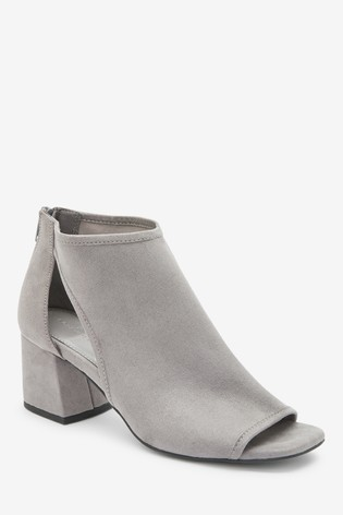 Grey Forever Comfort™ Low Cut-Out Shoe Boots