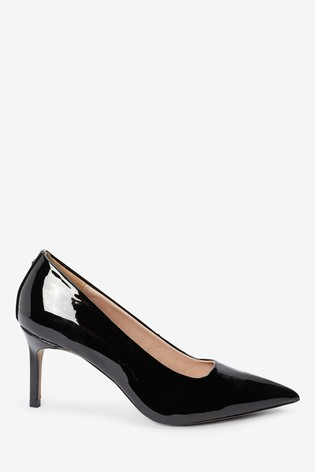 Buy Black Patent Court Shoes from Next