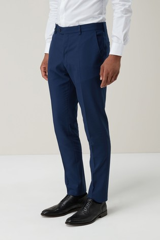 Bright Blue Skinny Fit Suit: Trousers