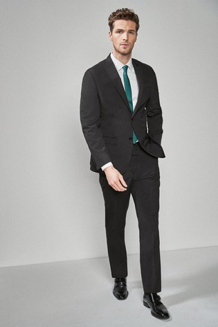 Charcoal Regular Fit Two Button Suit: Jacket