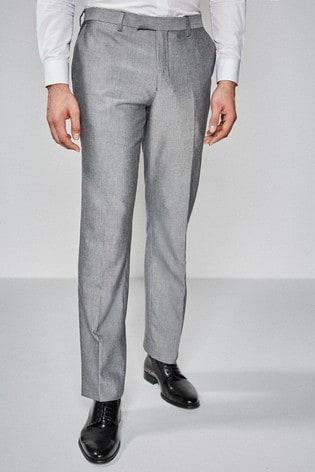 Light Grey Slim Fit Suit: Trousers