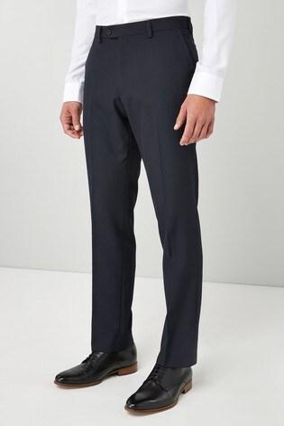 Navy Regular Fit Suit: Trousers