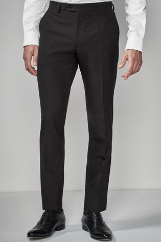 Black Skinny Fit Suit: Trousers