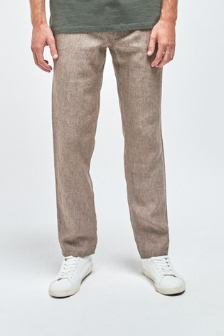 Stone Linen Trousers