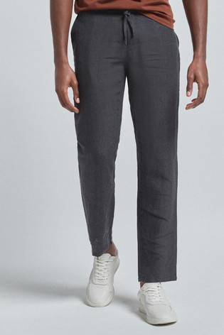 Charcoal Linen Trousers