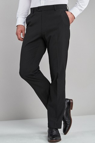 Black Regular Fit Stretch Formal Trousers