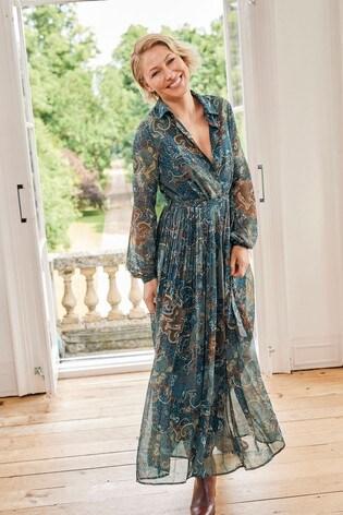 Print Emma Willis Pleat Dress
