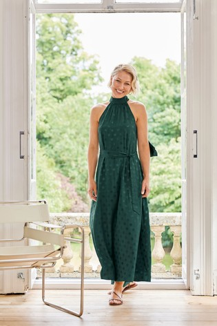 Green Spot Emma Willis Halter Neck Dress