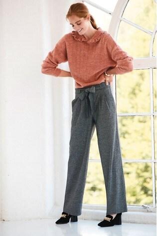 Blush Collar Detail Knitted Jumper