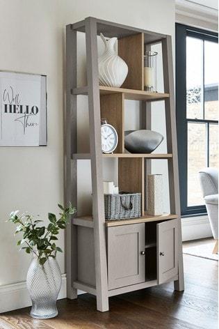 Malvern Dove Grey Storage Ladder Shelf