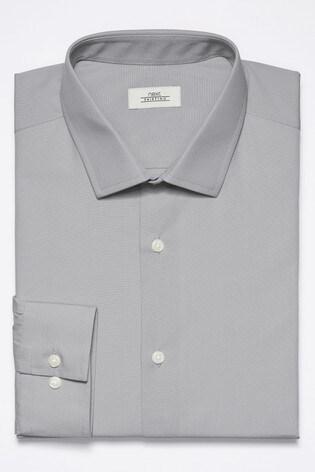 Light Grey Slim Fit Single Cuff Easy Care Shirt