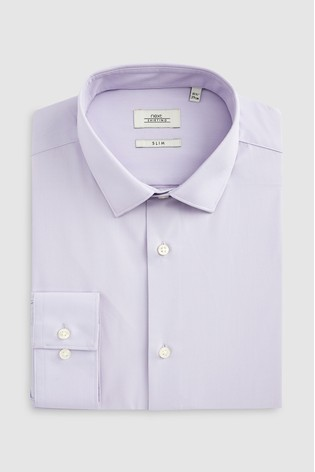 Lilac Slim Fit Single Cuff Easy Care Shirt