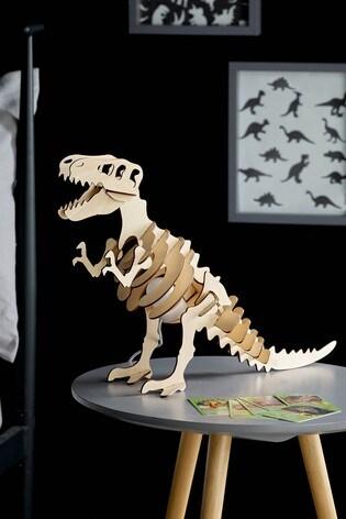 Wooden Dinosaur Table Lamp