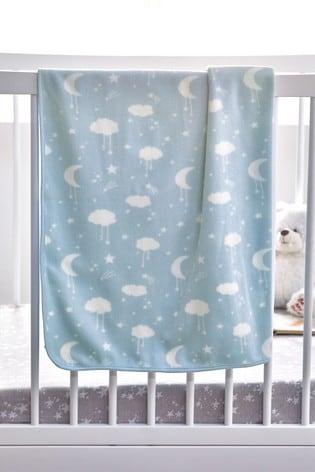 Moons & Clouds Fleece Blanket