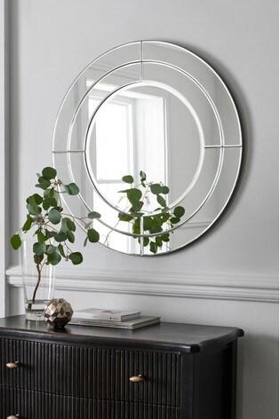 Round Bevel Mirror