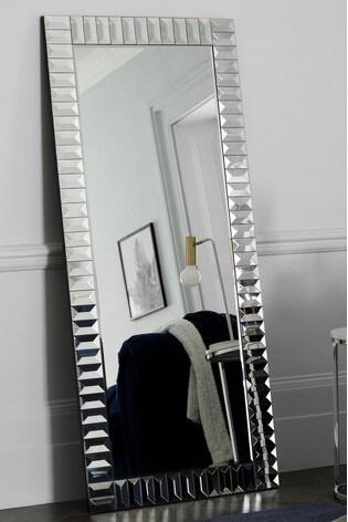 Glass Domino Floor Mirror